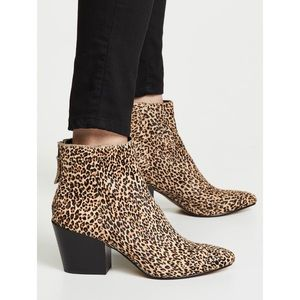 Dolce Vita Leopard Calf Hair Coltyn Booties